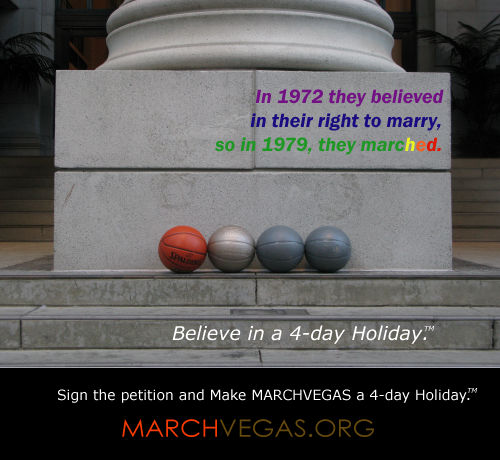 MARCHVEGAS 4-day Holiday LGBT ad